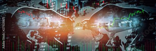 Trading Aktien Chart Canvas-taulu