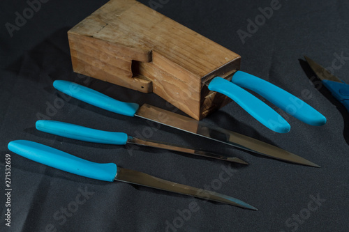 Juego de cuchillos para preparar comida Canvas Print