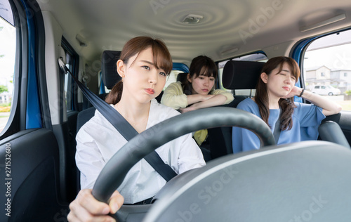 運転疲れ Fotobehang
