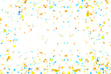 Colorful Watercolor Dropped On White Background. Abstract Background.