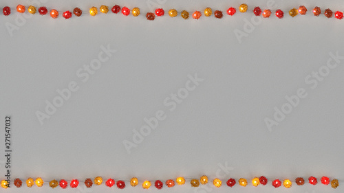 Red rotang string lights and free space 3D rendering