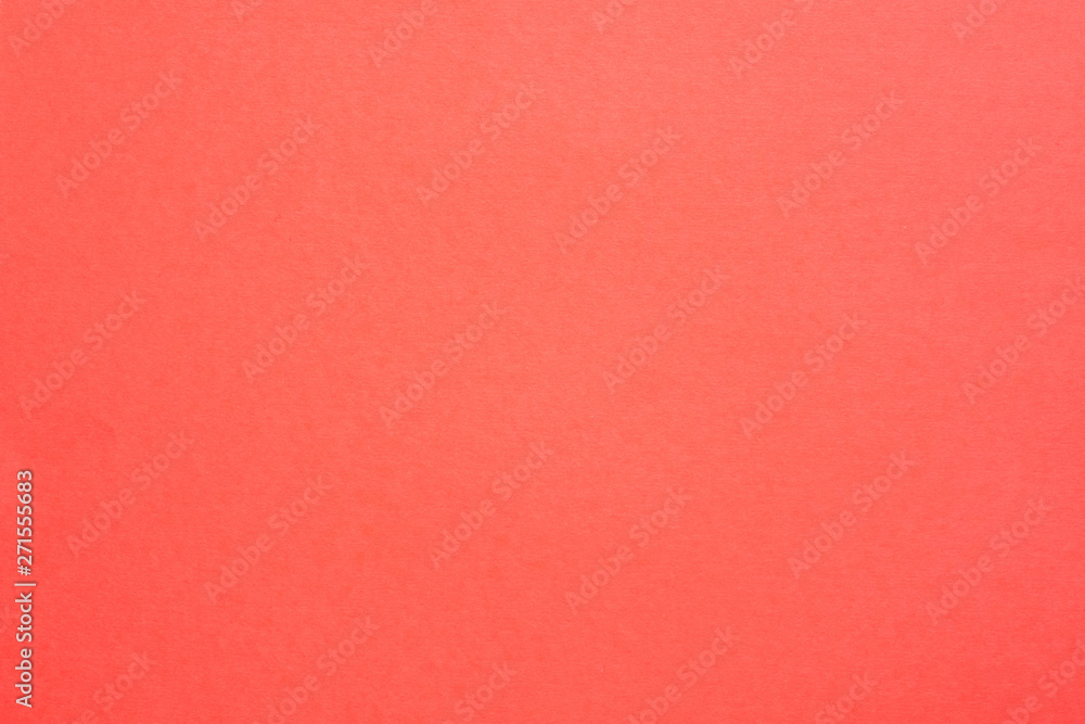 Fototapety, obrazy: Coral red felt texture abstract art background. Solid color carton surface. Empty space.