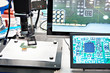Electronic boards, microscope and monitors