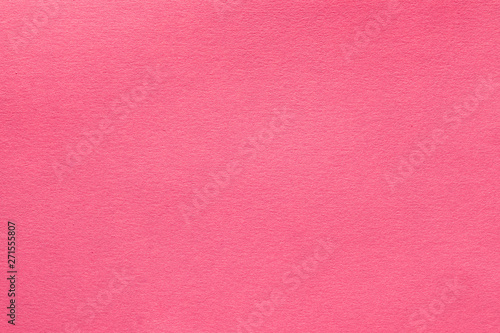 Coral pink felt texture abstract art background. Solid color wool textile. Copy space. - 271555807