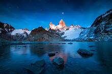 Fitz Roy Mountain At Sunrise, ...