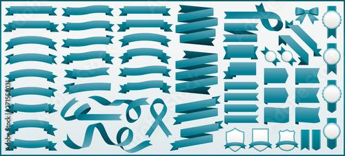 Photo  リボン素材セット 57 ribbons vector set
