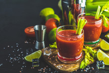 Bloody Mary Cocktail. Alcoholi...