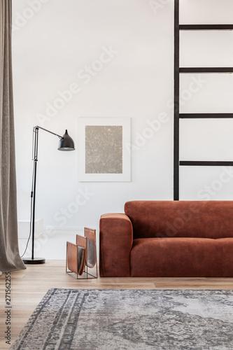 Miraculous Black Industrial Lamp Next To Fashionable Scandinavian Sofa Creativecarmelina Interior Chair Design Creativecarmelinacom