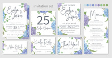 Set Of Wedding Invitations, Fl...