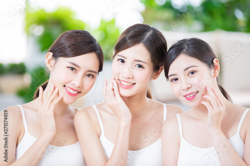 Fotografie, Obraz  beauty women smile happily