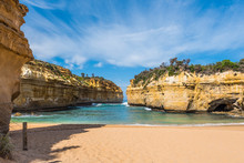 View Of The Loch Ard Gorge In Port Campbell, Victoria, Australia.