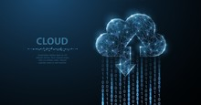 Cloud Technology. Polygonal Wi...