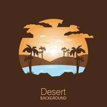 Landscape Desert.Oasis In The ...