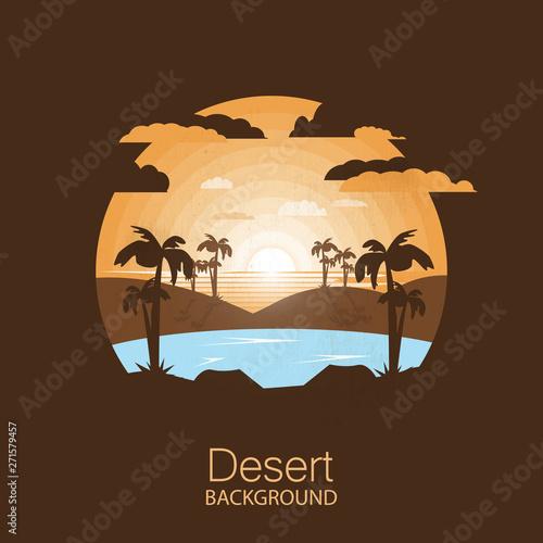 landscape desert Fotobehang