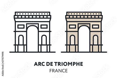 Triumphal Arc de Triomphe Canvas Print