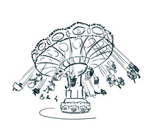 Carousel Vector Sketch Clip Ar...