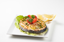 Grilled Wordfish With Salad An...