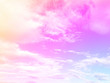 Leinwandbild Motiv Abstract Clouds Pastel Colored Gradient. A Soft Sky Nature Outdoor Background Great for Any Use.