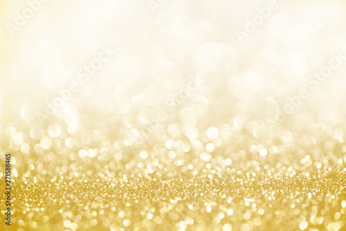 Obraz Golden shimmer glitter texture confetti designed background - fototapety do salonu