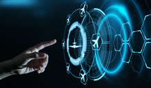 Business Technology Travel Transportation Concept With Planes