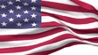 USA Waving Flag Animation. Loopable Motion in 4k.