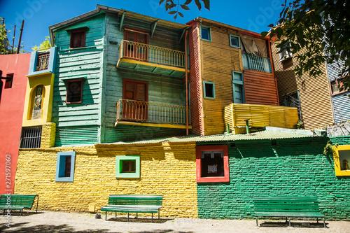 Deurstickers Buenos Aires Colorful houses at Caminito street in La Boca, Buenos Aires. Argentina.