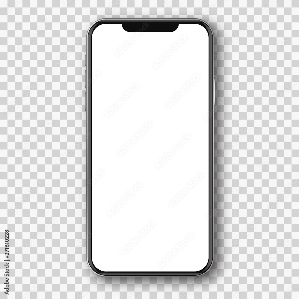 Fototapeta Mobile phone white mockup .