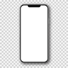 Mobile Phone White Mockup .