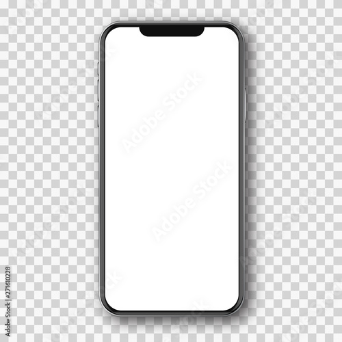 Mobile phone white mockup . Fototapeta