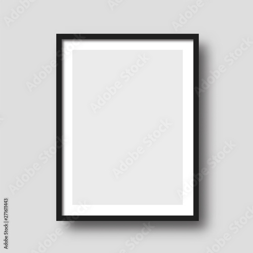 Fotografiet Wall picture frame vector.