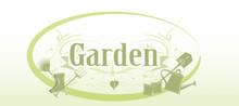 Garten Schild In Hellgrün