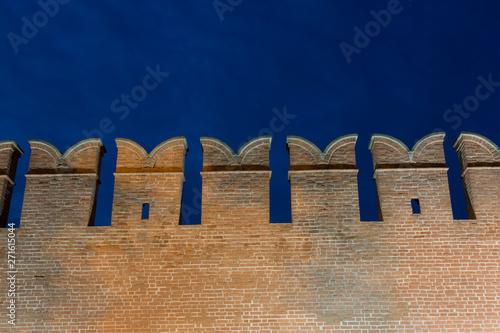 Kremlin wall against the night sky Canvas Print
