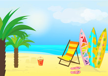 Vector Summer Background With ...