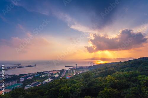 Wolmi amusement park after Sunset at incheon, south korea. Wallpaper Mural