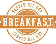 Breakfast Served All Day Diner Sign