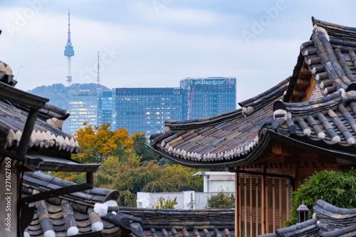 Canvas Prints Seoul Seoul korea -October 26,2018.Landscape view of old town in Seoul Korea