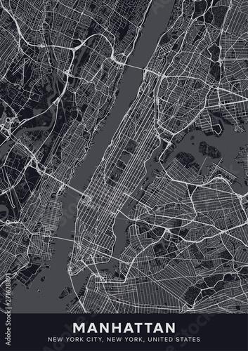 Wallpaper Mural Manhattan map