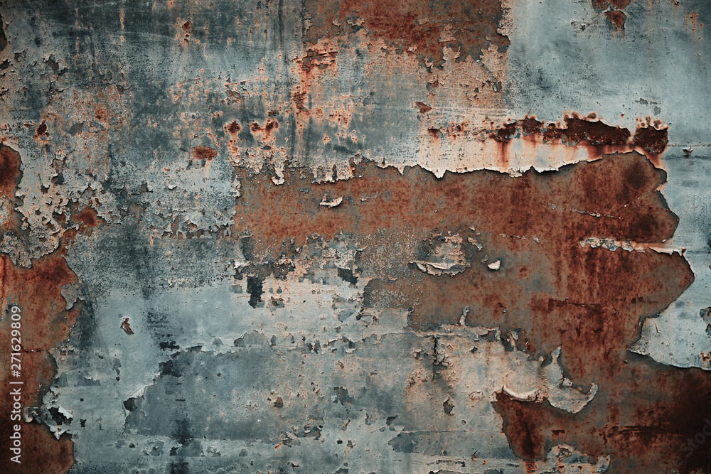 Fototapety, obrazy: Texture of rusty metal with peeling paint