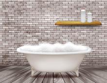 Luxury Vintage Bathtub With So...