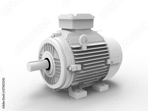 Fotografia, Obraz 3D rendering - grey electric motor