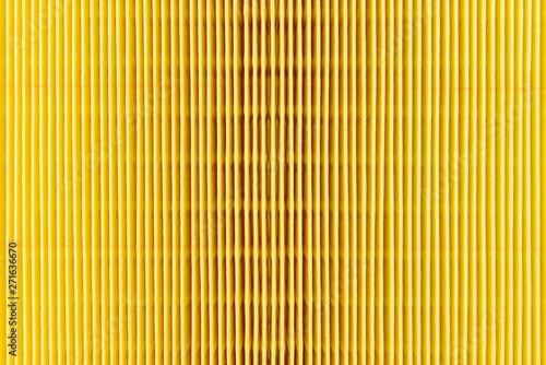 Fotografía  A macro shot of the surface rectangular, air filter for the car