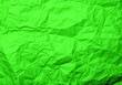 canvas print picture - Crumpled green paper texture