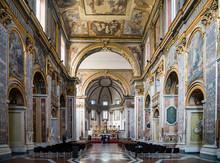 Interior Of Basilica Of San Paolo Maggiore In Naples, Italy