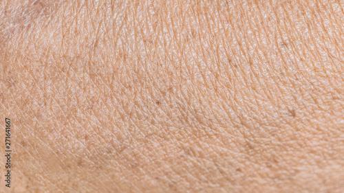 Türaufkleber Makrofotografie texture wrinkled of old human skin