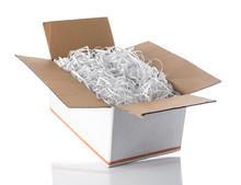 Shredded Paper In The White Bo...