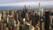 Downtown New York City, wide aerial