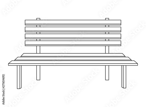 Fine Park Bench Icon Cartoon Isolated Black And White Buy This Machost Co Dining Chair Design Ideas Machostcouk