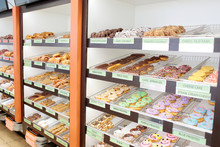 Assorted Fresh Donuts On Displ...