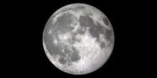 Moon Full Black Background