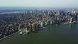 Wide aerial, New York City skyline